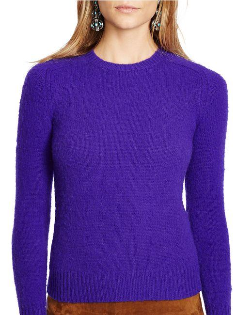 Polo Ralph Lauren   Purple Wool Crewneck Sweater   Lyst