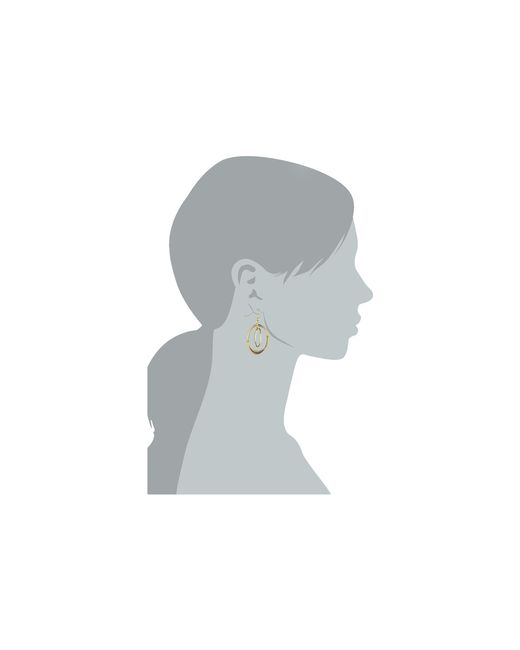 Lauren by Ralph Lauren | Metallic Small Round Bevel Ring Gypsy Hoop Earrings | Lyst