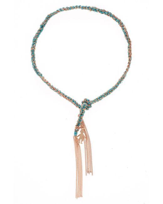 Carolina Bucci | Blue 'lucky' Woven Gold And Silk Bracelet | Lyst
