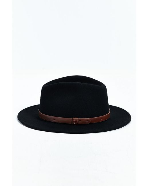 Brixton | Black Messer Fedora Hat for Men | Lyst