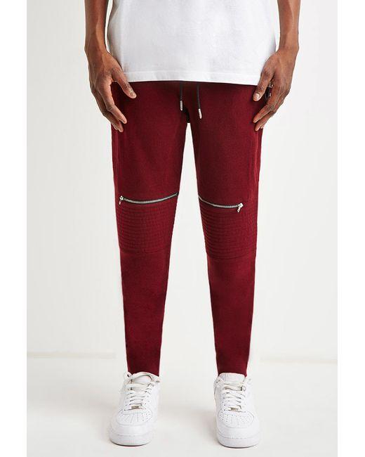 Forever 21 | Zippered Moto Sweatpants for Men | Lyst