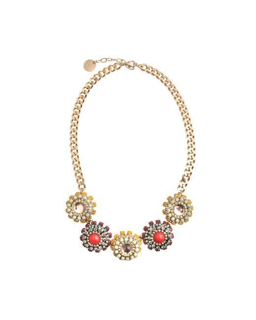 Anton Heunis | Metallic Katrina Multicoloured Floral Necklace | Lyst