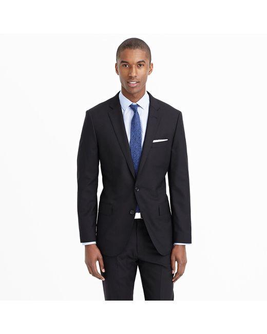 J.Crew | Black Ludlow Suit Jacket With Double Vent In Italian Wool for Men | Lyst