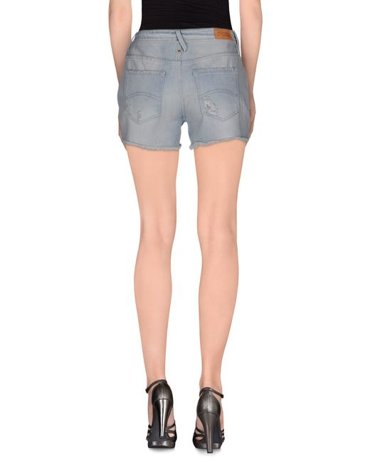 hilfiger denim denim shorts in blue lyst. Black Bedroom Furniture Sets. Home Design Ideas