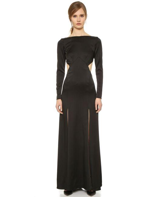 Temperley London | Black Madena Open-Back Maxi Dress  | Lyst