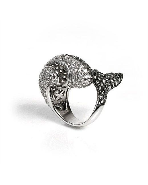 noir jewelry natalie the shark ring in silver lyst