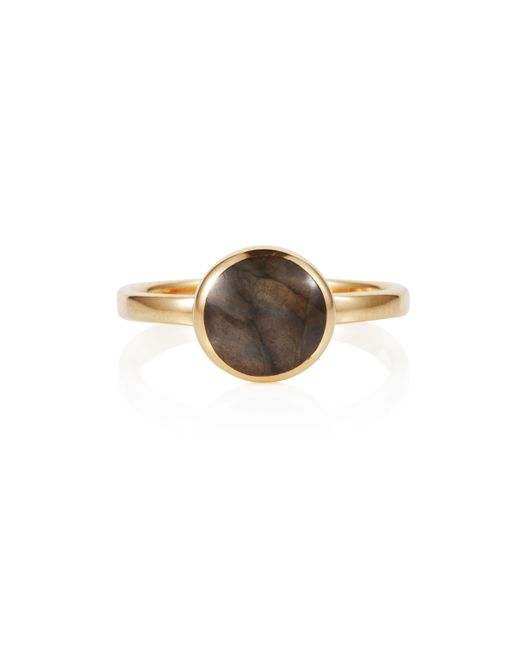 Caroline Creba | Metallic 18ct Gold Plated Sterling Silver 2ct Labradorite | Lyst