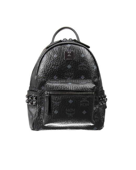 MCM | Blue Stark Small No Stud Backpack | Lyst
