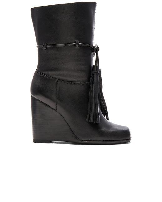 Jeffrey Campbell | Black Larusso Tasseled Leather Boots | Lyst