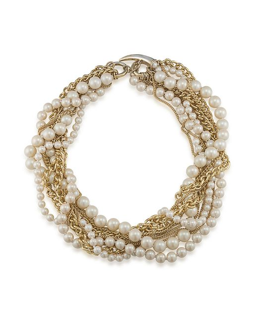 Carolee | Metallic Picnic Pearls Torsade Goldtone Chain And Pearl Necklace | Lyst