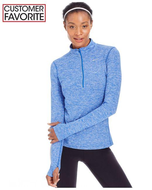 Nike | Blue Element Dri-fit Half-zip Running Top | Lyst