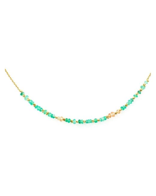 Natasha Collis | Green Emeral 'story' Necklace | Lyst