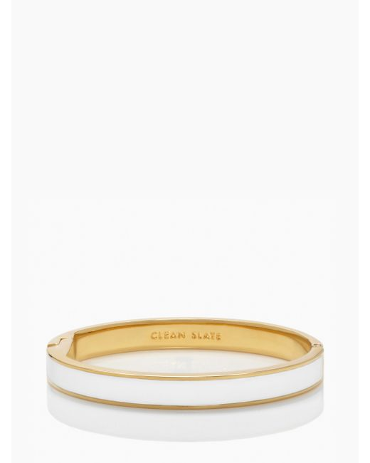 kate spade new york | White Live Colorfully Idiom Bangle | Lyst