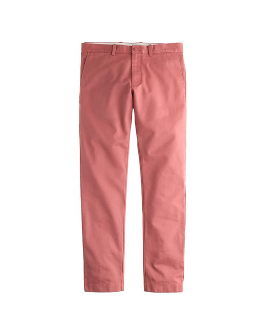 J.Crew | Red Essential Chino In 484 Fit for Men | Lyst