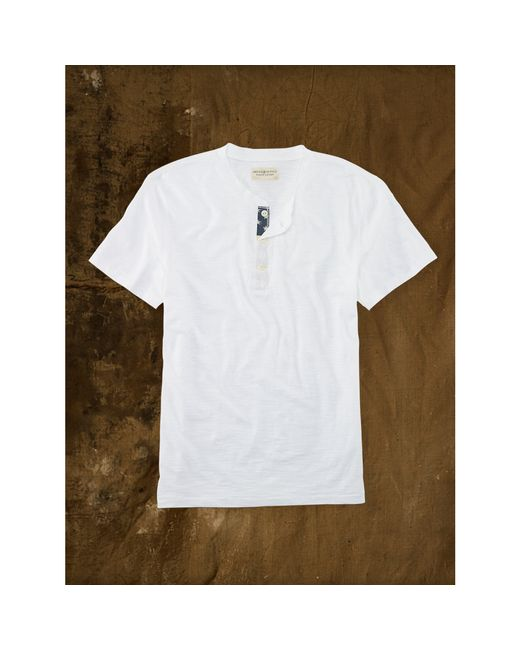 Denim & Supply Ralph Lauren | White Flag-placket Henley for Men | Lyst