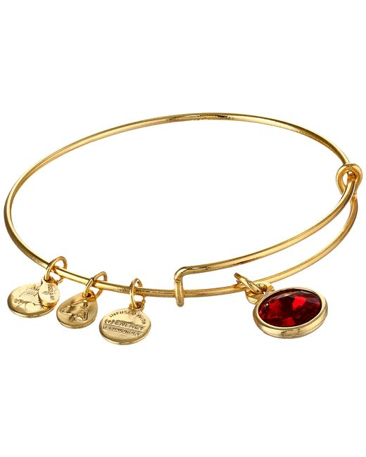 ALEX AND ANI | Metallic January Birthstone Charm Bangle | Lyst