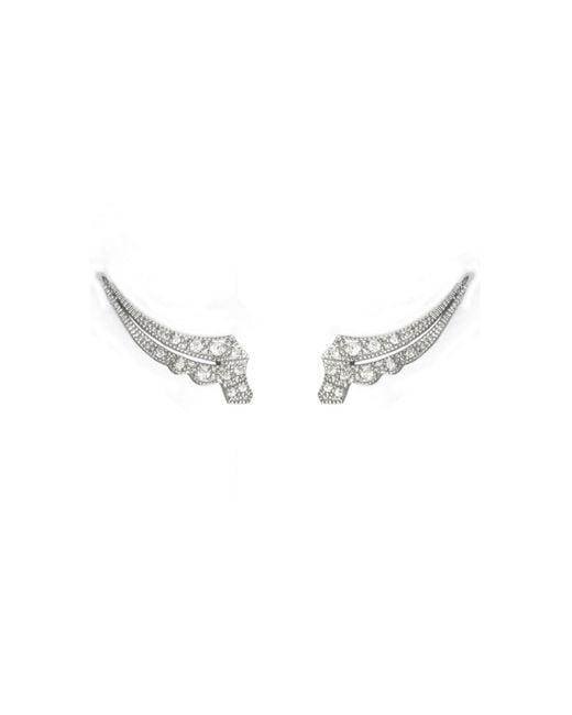 V Jewellery   Metallic Deco Apollo Lobe Earrings   Lyst