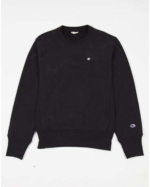 Champion | Reverse Weave Crew Neck Sweatshirt Black for Men | Lyst
