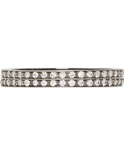 Repossi   Metallic Black Gold Pavé Diamond Berbere Ring   Lyst