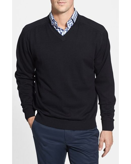 Cutter & Buck | Black 'broadview' V-neck Sweater for Men | Lyst