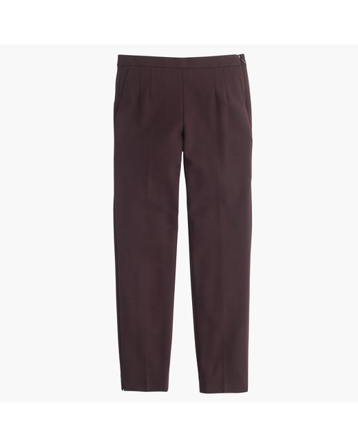 J.Crew | Brown Petite Martie Pant In Bi-stretch Wool | Lyst
