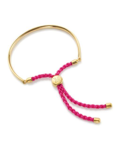 Monica Vinader | Red Fiji Friendship Petite Bracelet | Lyst