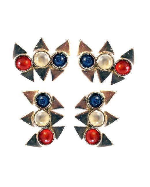 Jill Golden | Metallic Triple Reflection Earring | Lyst