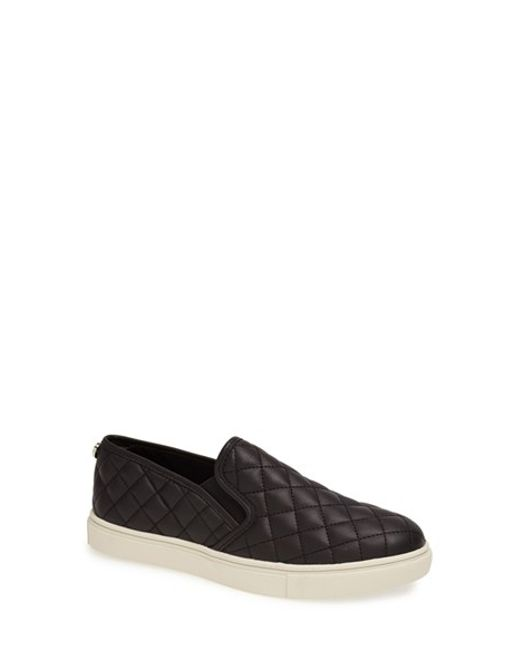 Steve Madden | Black Ecentrcq Quilted Sneakers | Lyst