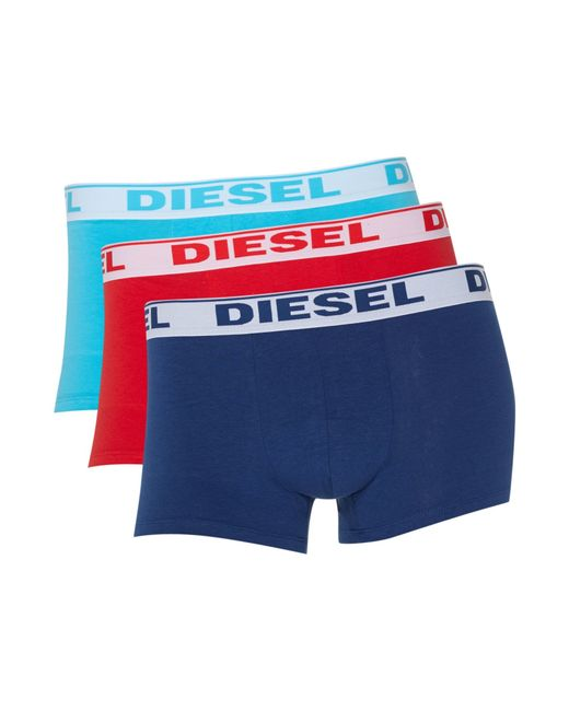 DIESEL   Red 3 Pack Of Contrast Waistband Trunk for Men   Lyst