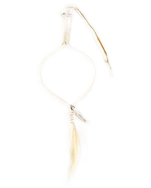 Ann Demeulemeester | Natural Drawstring Necklace for Men | Lyst