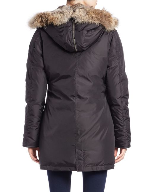 Pajar   Black Brooklyn Real Fur Trim Down Parka   Lyst