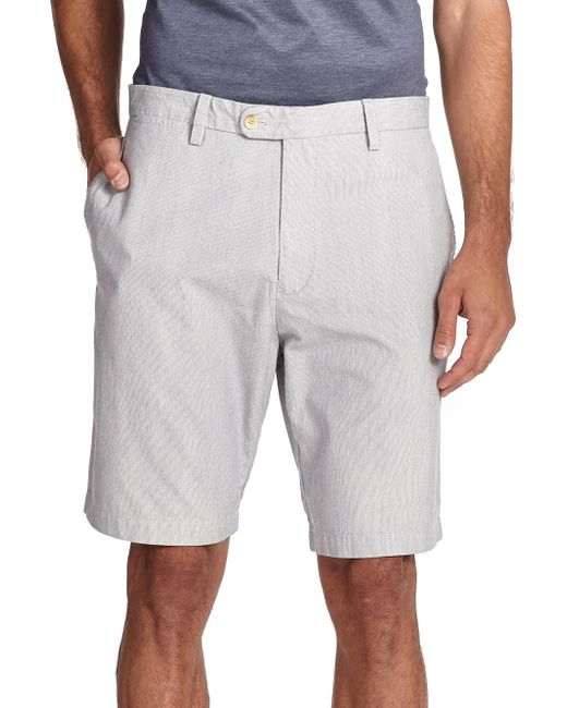 Saks Fifth Avenue | Blue Pincord Bermuda Shorts for Men | Lyst