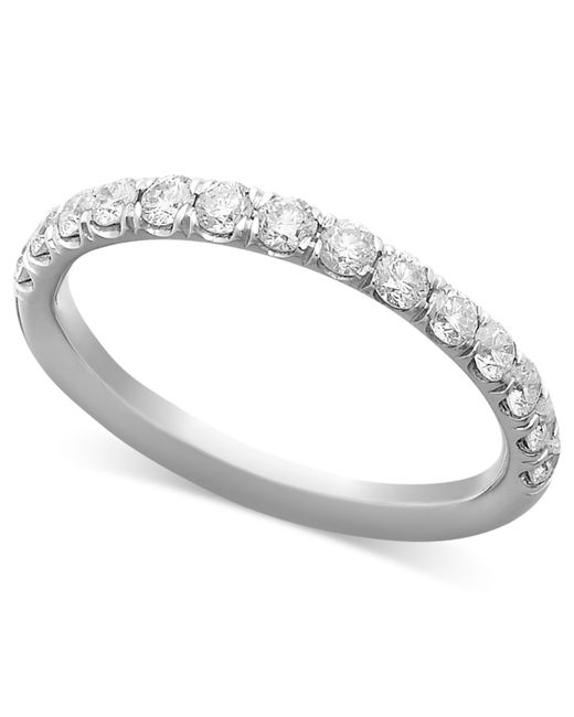 Macys Mens Wedding Rings: Macy's Pave Diamond Band Ring In 14k White Or Yellow Gold