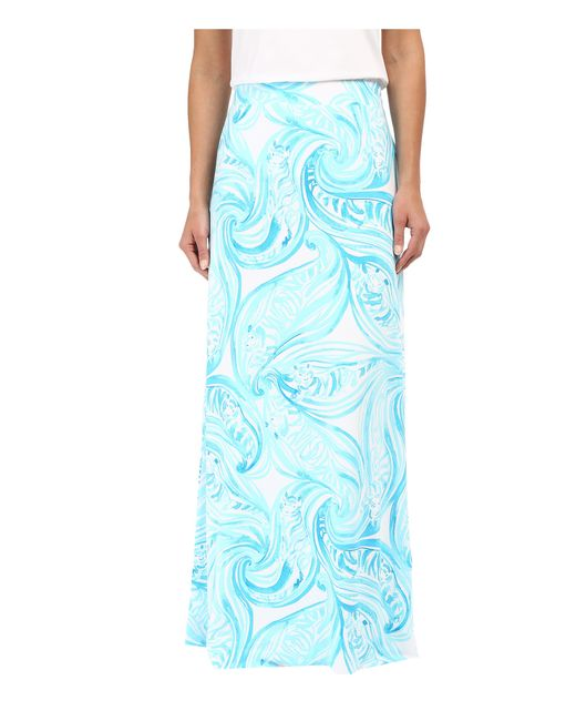 Lilly Pulitzer Nola Skirt In Teal Resort White Sea