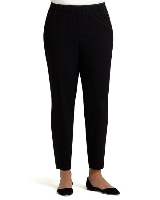 Lafayette 148 New York | Black Piped Track Pants | Lyst