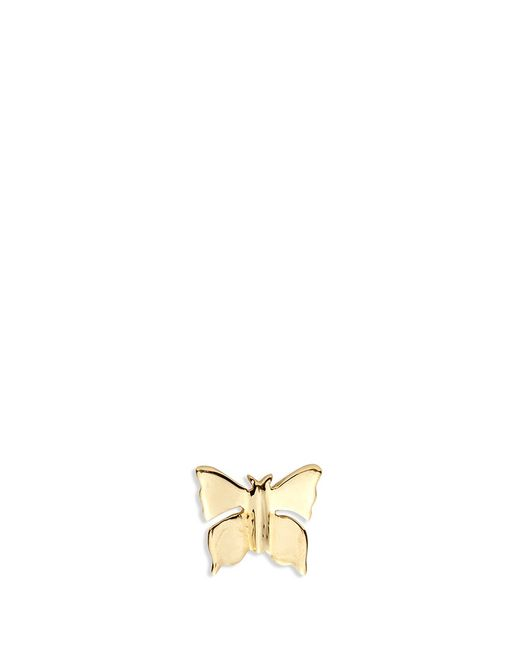 Loquet London | Metallic 14k Yellow Gold Butterfly Single Earring - Metamorphosis | Lyst