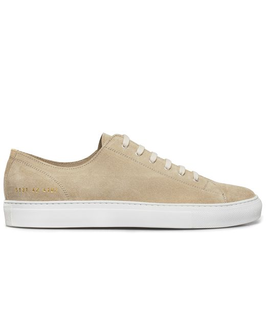 common projects off white suede tournament low sneakers in beige for men lyst. Black Bedroom Furniture Sets. Home Design Ideas