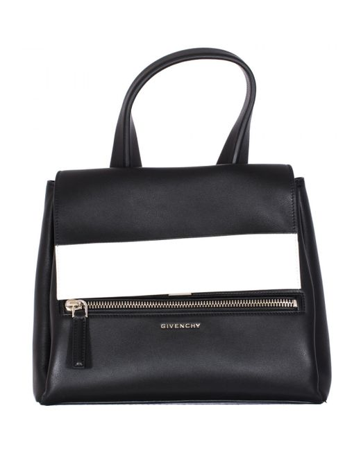 """Givenchy Black And White Leather Small """"pandora Pure"""" Bag ..."""