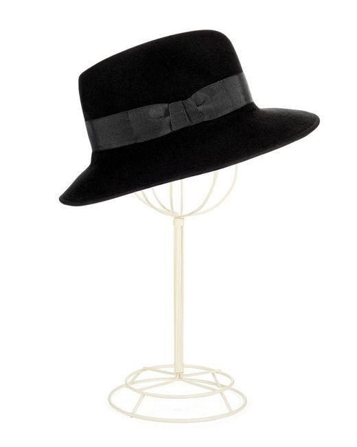 Eric Javits | Black Wool Bucket Hat | Lyst