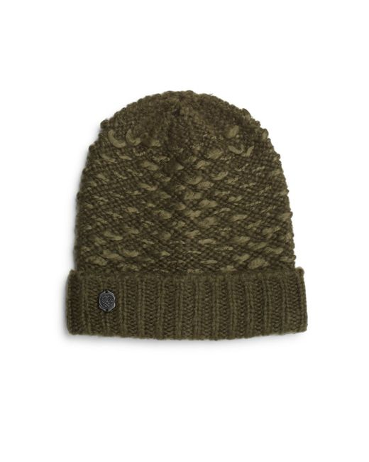 Vince Camuto | Green Stitched Knit Hat | Lyst