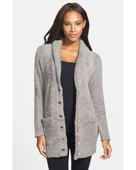 Barefoot Dreams | Gray Barefoot Dreams Relaxed Fit Cozychic Cardigan | Lyst