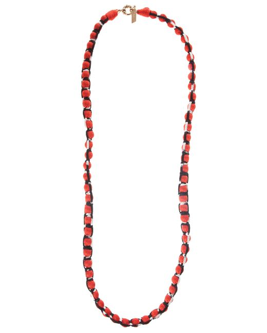 Missoni | Red Roped Ball Long Necklace | Lyst