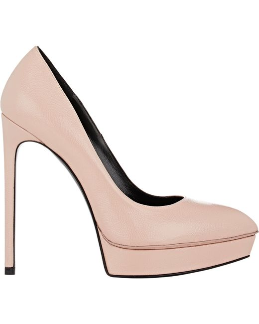 Saint Laurent | Pink Janis Platform Pumps | Lyst