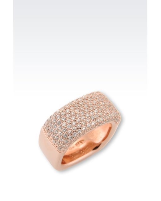 Emporio Armani   Pink Ring   Lyst