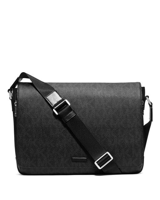 Michael Kors   Black Signature Messenger Bag for Men   Lyst