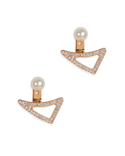 Vita Fede | Pink Lancia 24kt Rose Gold-plated Earrings | Lyst