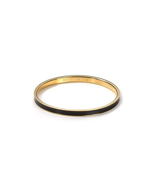 Kate Spade | Black Idiom Draw The Line Bangle | Lyst