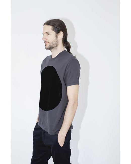 Correll Correll | Velvet Circle T-shirt - Black for Men | Lyst