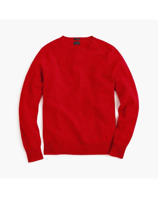J.Crew | Red Slim Lambswool Sweater for Men | Lyst