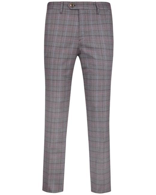 Ted Baker | Red Piitro Tonal Check Trousers for Men | Lyst